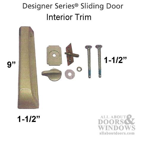 interior sliding door pull handle with thumbturn choose