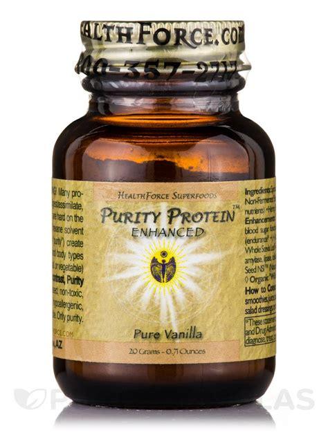 protein 20 grams purity protein vanilla 0 71 oz 20 grams