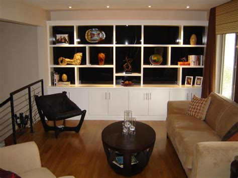 Most Popular Kitchen Cabinet Colors custom built ins modern living room st louis by