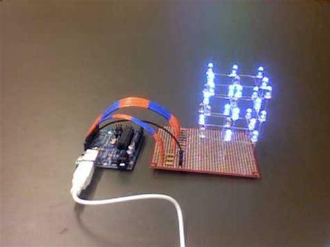 code arduino led cube led cube 3x3x3 with arduino youtube