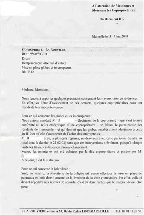 Exemple De Lettre Nuisance Sonore modele lettre syndic voisin bruyant contrat de travail 2018