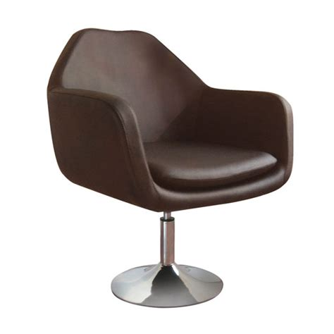Chrome Bistro Chairs Imona Bistro Chair In Brown Leather Effect With Chrome Base