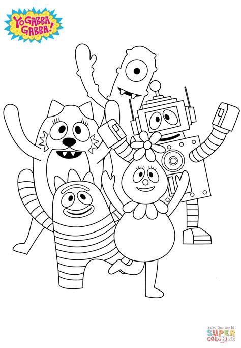 yo gabba gabba coloring page free printable coloring pages