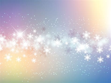 snowflakes fantasy holiday backgrounds presnetation ppt