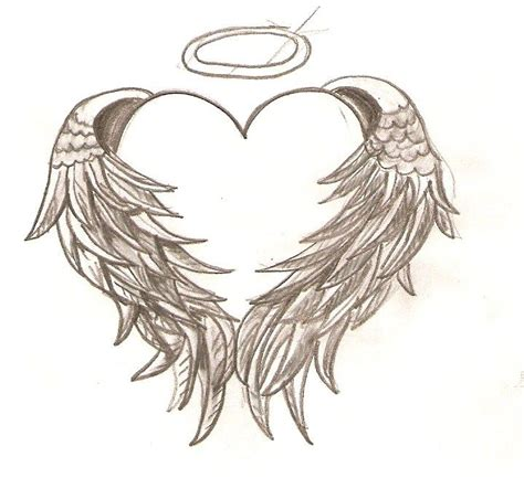 112 best angel wing s surrounding a heart memorial tattoo
