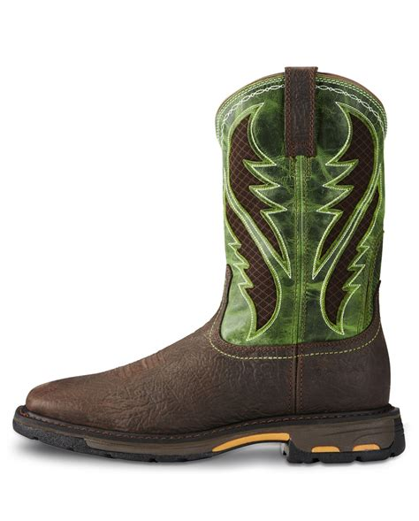 square toe mens boots ariat 174 s workhog wide square toe venttek boots fort