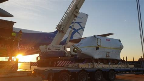 airbridgecargo delivers 28 tonne motor to shanghai air cargo week