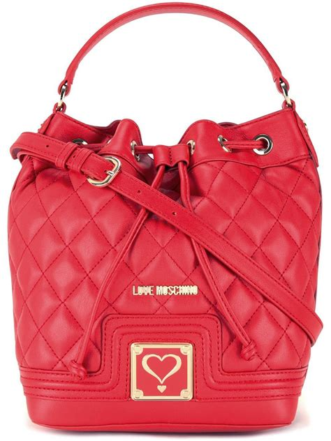 moschino quilted drawstring crossbody bag in lyst