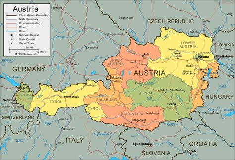 map germany austria austria map and satellite image