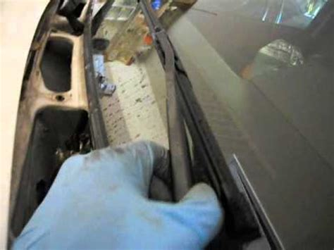 how to re  align windshield wiper arms that rest too high