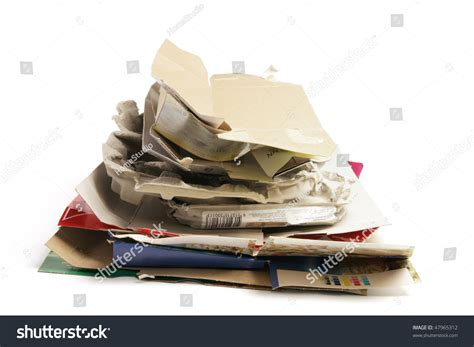 How To Make Waste Paper Products - waste paper products on white background stock photo