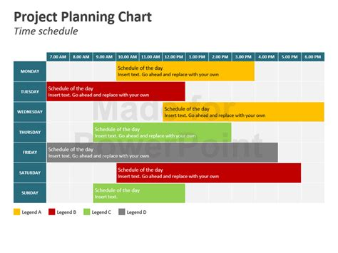 presentation schedule template project planning chart powerpoint slides