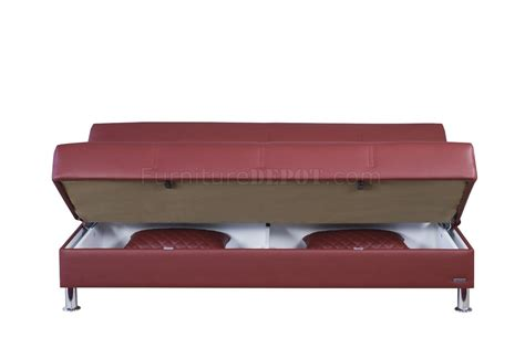eco sofa bed eco rest sofa bed in zen burgundy leatherette by casamode