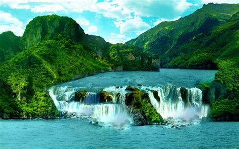 tropical waterfall hd wallpaper  wallpaperscom