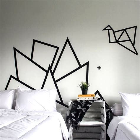 diy hiasan dinding kamar tidur  selotip diy
