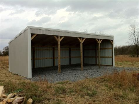 pole barn  loafing shed material list building plans