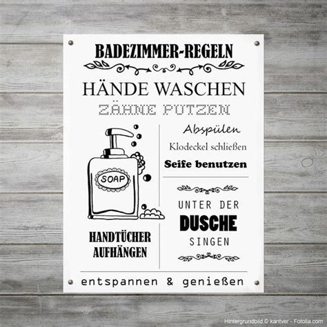 Badezimmer Deko Lustig by Regeln F 252 Rs Badezimmer Als Witzige Wanddeko Illustration