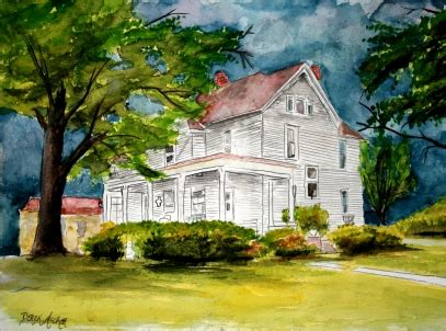 artist house watercolor house paintings and drawings