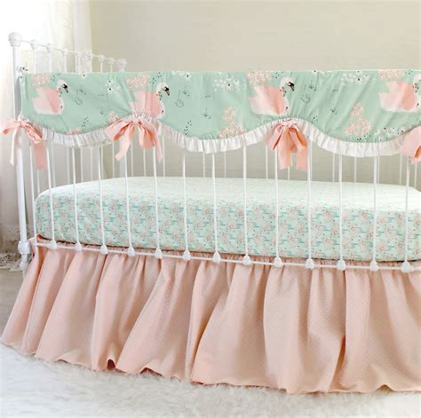Vintage Inspired Crib Bedding Swan Baby Bedding For An Vintage Inspired Nursery