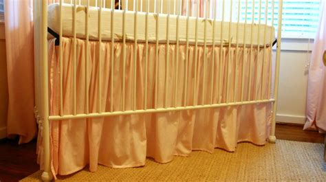 diy ruffled crib skirt from fitted sheet checking in