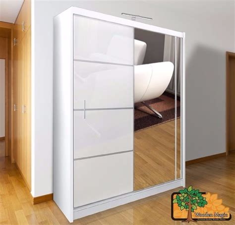 Free Standing Wardrobes With Sliding Mirror Doors by Vista White 150 Sturdy Free Standing Wooden Sliding Door Wardrobe Slider In Kirkcaldy Fife