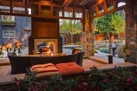 outdoor living spaces covered sizzling style how to decorate a stylish outdoor hangout