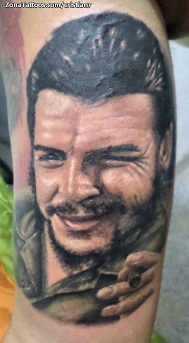cristian rodriguez tattoo tatuaje de che guevara retratos rostros