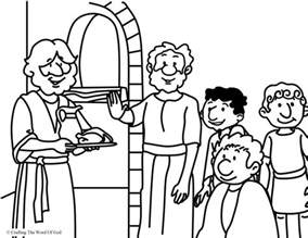 daniel and his friends coloring page coloring pages