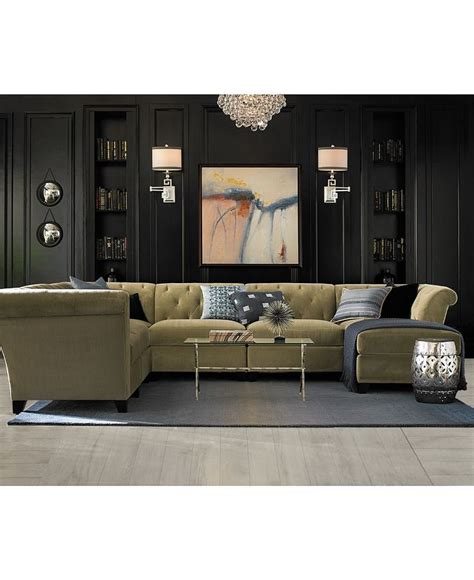 Macy S Living Room Furniture Velvet Fabric 6 Chaise Modular Shop All Living Room Furniture Macy S Macys