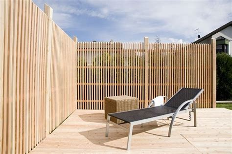 Terrasse Zaun Modern by Holzzaun Breite Latten Quer Suche Sichtschutz