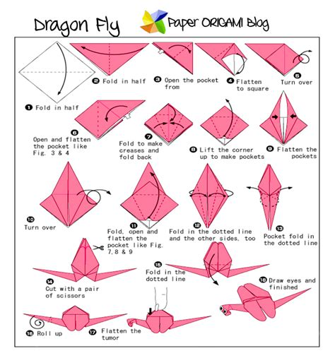How To Make An Origami Dragonfly - fly origami paper origami guide