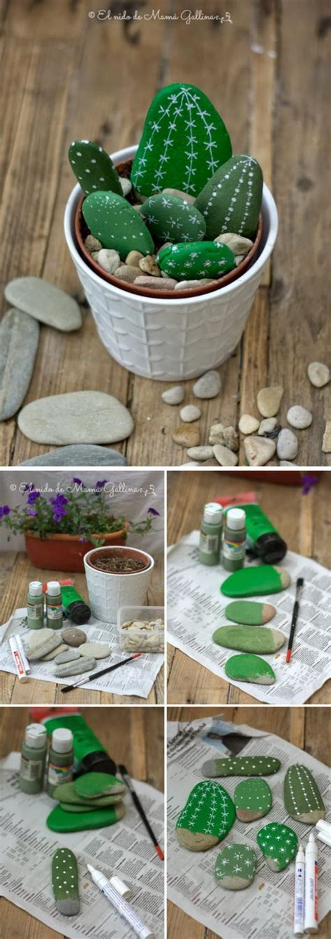 diy home decor ideas  pebbles  river rocks