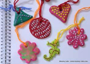 Christmas Art Craft - salt dough christmas ornaments artful and easy for kids