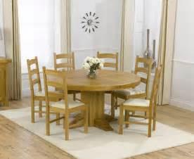 zenia oak 150cm round dining table amp 6 lavena chairs