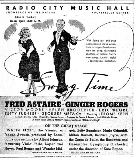 swinging time swing time the pinnacle of the astaire rogers rko films
