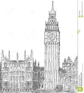 skizzieren von big ben london lizenzfreies stockbild bild 29985586