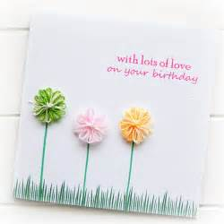 birthday card for her cotton flowers mum sister daughter