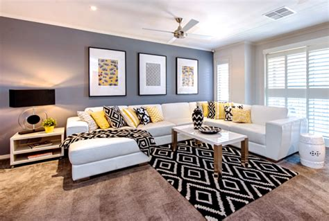 black ls for living room a look at cathy elsmore s black yellow and white living