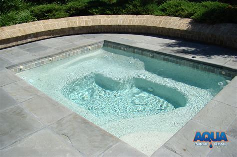 in ground tub custom spas custom gunite tubs aqua pools spas