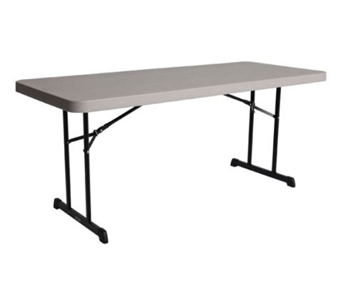 Lifetime 6 Foot Folding Table Lifetime Folding Table 80126 6 Foot Professional Grade Putty Top