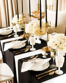 Black And White Table Setting White Table Setting Decoration Ideas For Easter Figurines