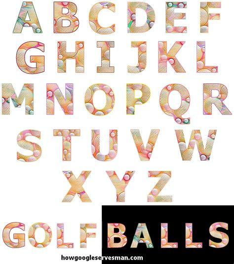 font design copy and paste cut copy paste golf balls alphabet letters fonts by