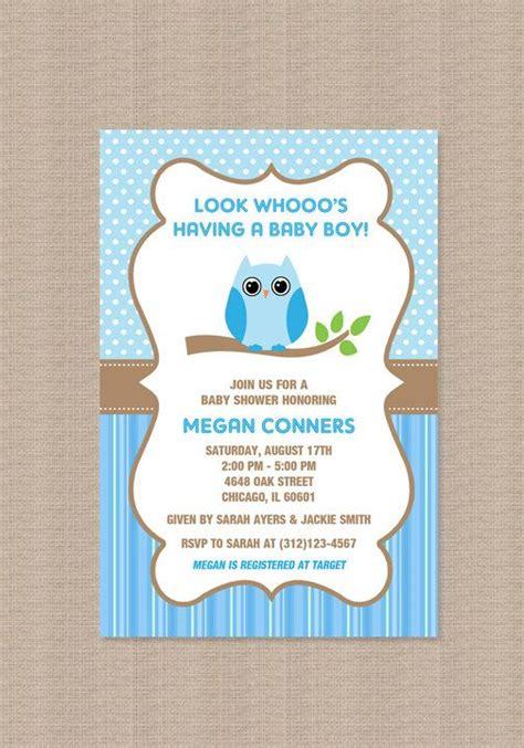 owl baby shower invitations boy owl boy baby shower invitations