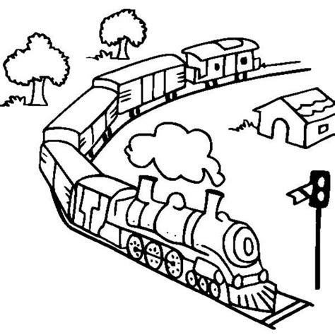 steam train model coloring page netart
