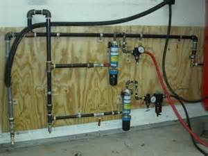 Air Line Plumbing by Paint Booth