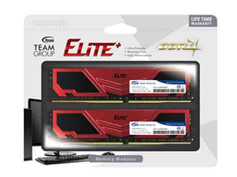 Team T Grey Ddr4 Pc19200 2400mhz Dual Channel 16gb 2x8gb team elite plus 8gb 288 pin ddr4 sdram ddr4 2400 pc4
