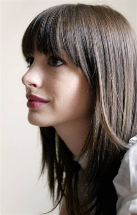 medium straight hairstyles with bangs 2017 hottest medium straight haircuts hairstyles 2018