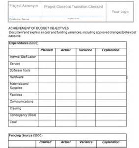 project closeout template project templates project management templates