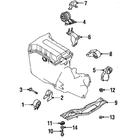 Engine Mountung Kia Sportage Lower Rear K011 39 820 1 parts 174 kia sephia engine trans mounting oem parts
