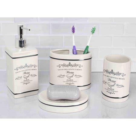 home basics 4piece paris bathroom accessory set walmartcom